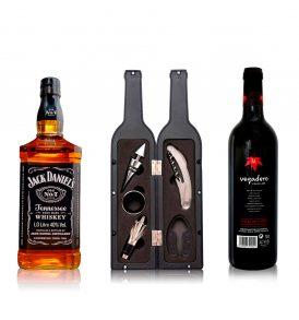 Set Jack Daniel´s, Vino Vegadero y Accesorios