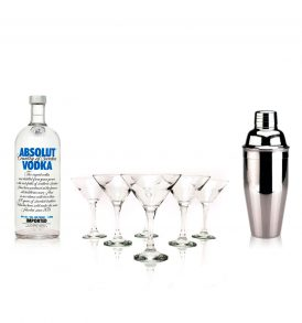 Set Absolut, Coctelera y Copas