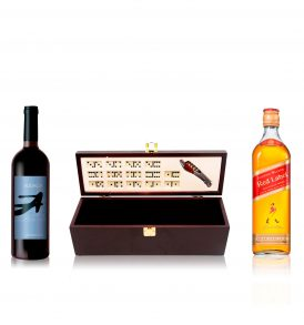 Set Johnnie Walker, Vino Audacia y Estuche
