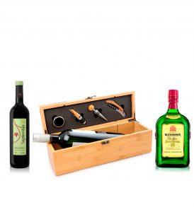 Promoción Buchanan's 12, Estuche Bambú para Vino y Vino Tinto Septiembre