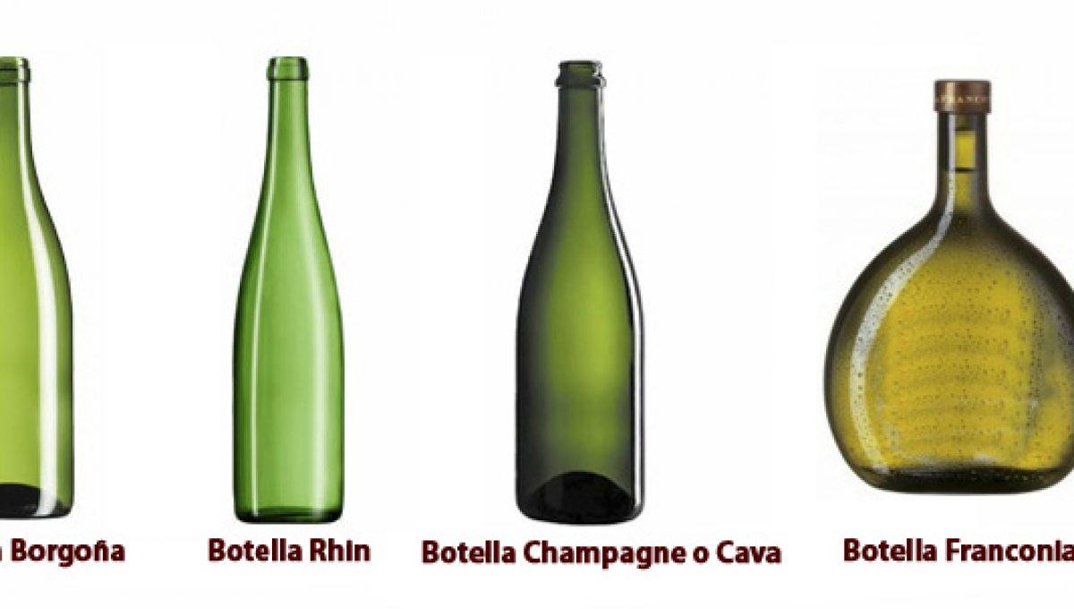 Tipos de botellas para vinos