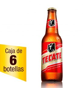 Cerveza Tecate caja 6 botellas 355ml