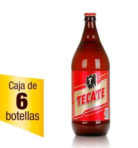 Cerveza Tecate caja 6 botellas 1.18L caguamón