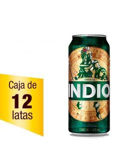 Cerveza Indio Caja 12 latas 473ml