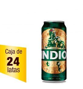 Cerveza Indio Caja 24 latas 473ml