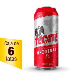 Cerveza Tecate Caja 6 latas 473ml