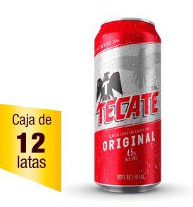 Cerveza Tecate Caja 12 latas 473ml