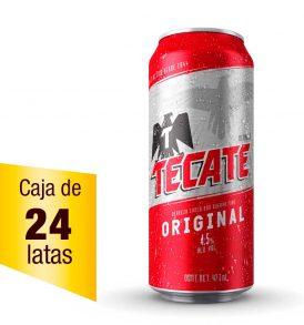 Cerveza Tecate caja 24 latas 473ml