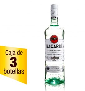 Ron Bacardí Blanco caja 3 botellas 980ml