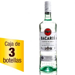 Ron Bacardí Blanco caja 3 botellas 980ml