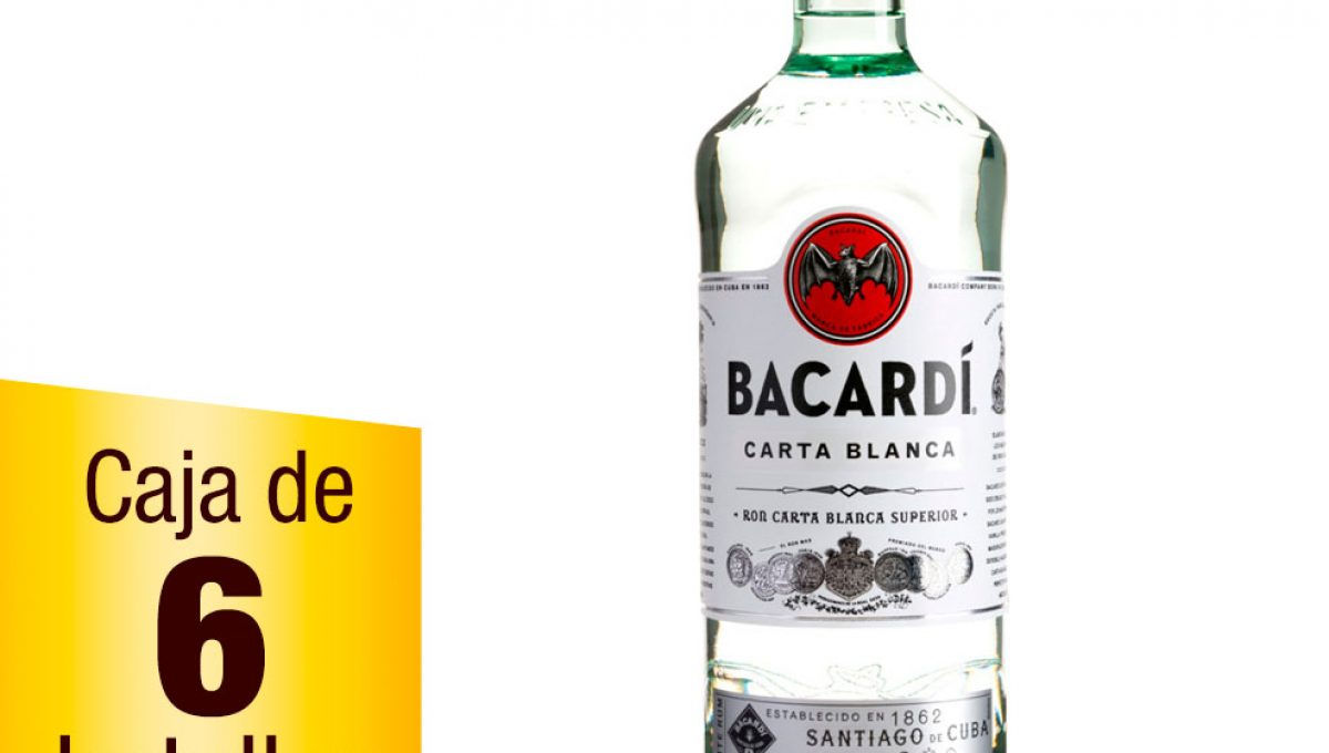 Ron Bacardí Blanco caja 6 botellas 980ml