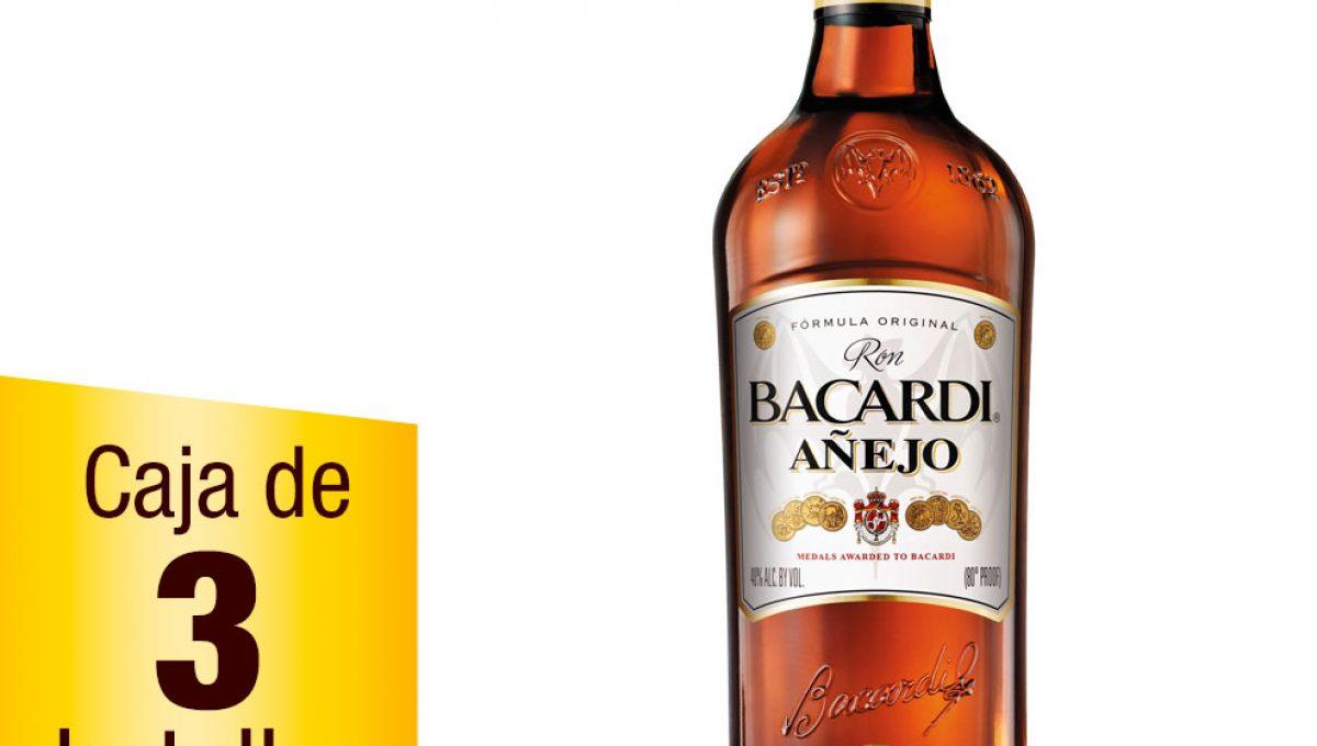 Ron Bacardí Añejo caja 3 botellas 1L
