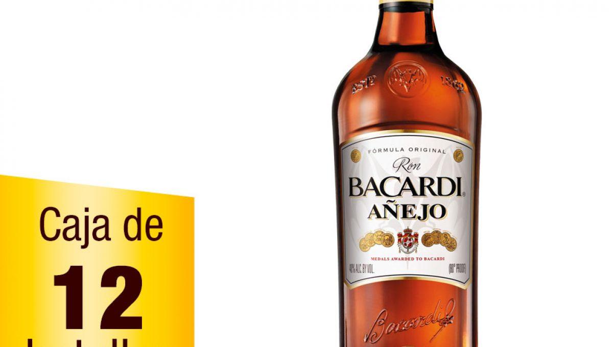 Ron Bacardí Añejo caja 12 botellas 1L