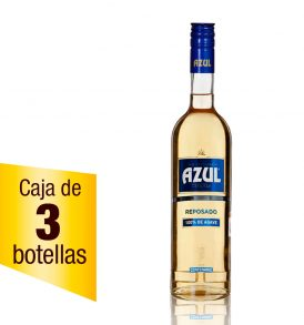 Tequila Centenario Azul caja 3 botellas 700ml