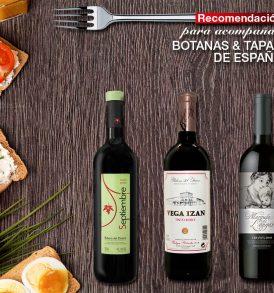 Pack de 6 vinos para acompañar botanas y tapas españolas