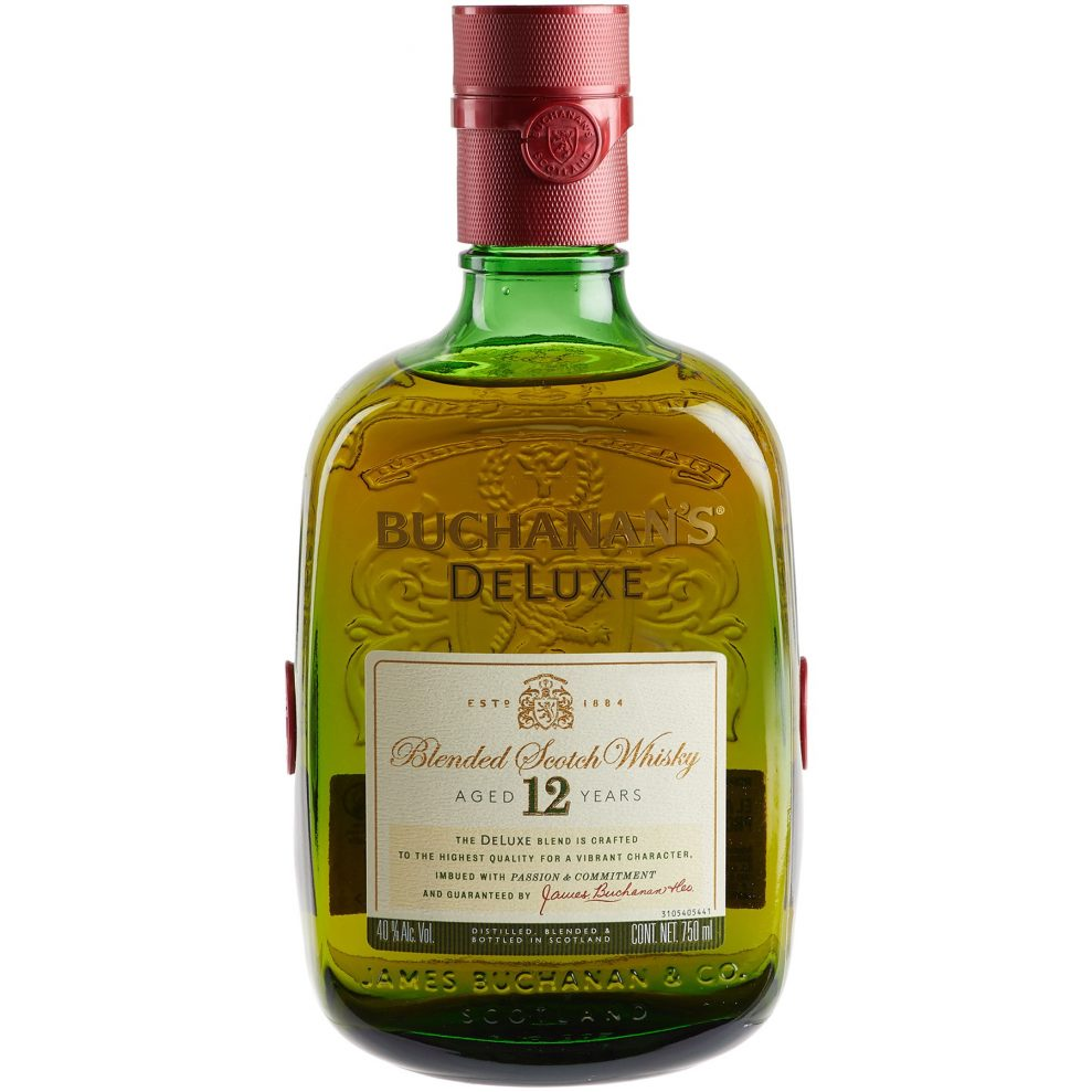 Botella de whisky Buchanan´s de 12 años
