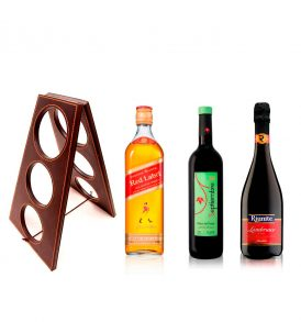 Set Johnnie Walker, Riunite, Vino Septiembre y Rack