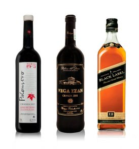 Set Johnnie Walker, Vino Palomero y Vega Izán