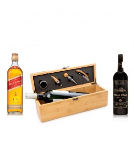 Set Johnnie Walker, Vino Vega Izán y Estuche