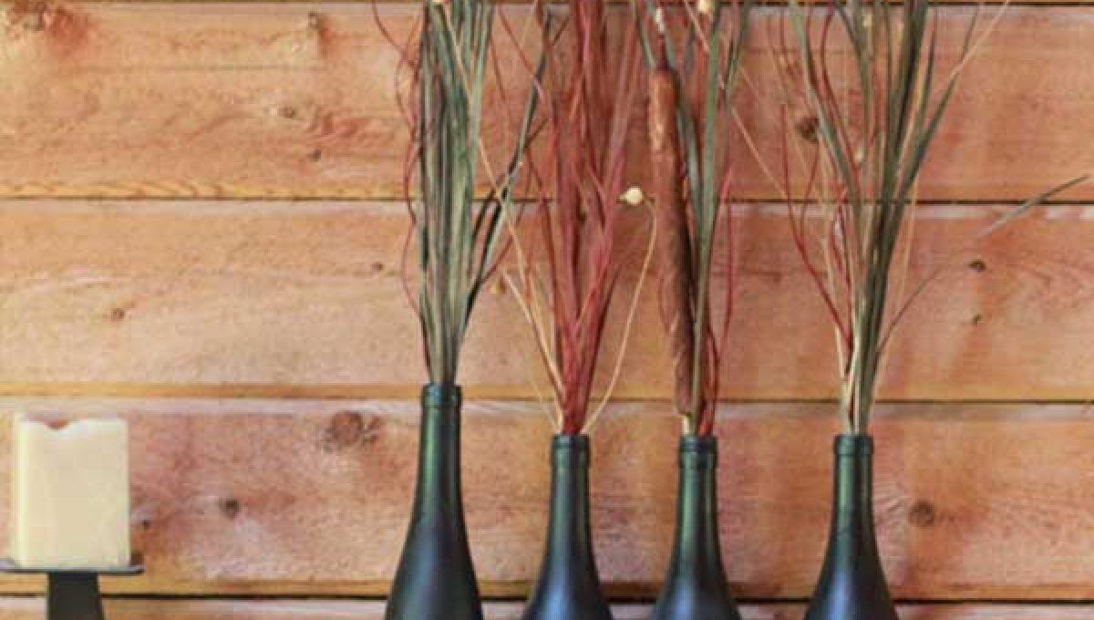 Ideas con botellas de vino para el otoño