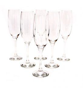 Juego de 6 copas de champaña