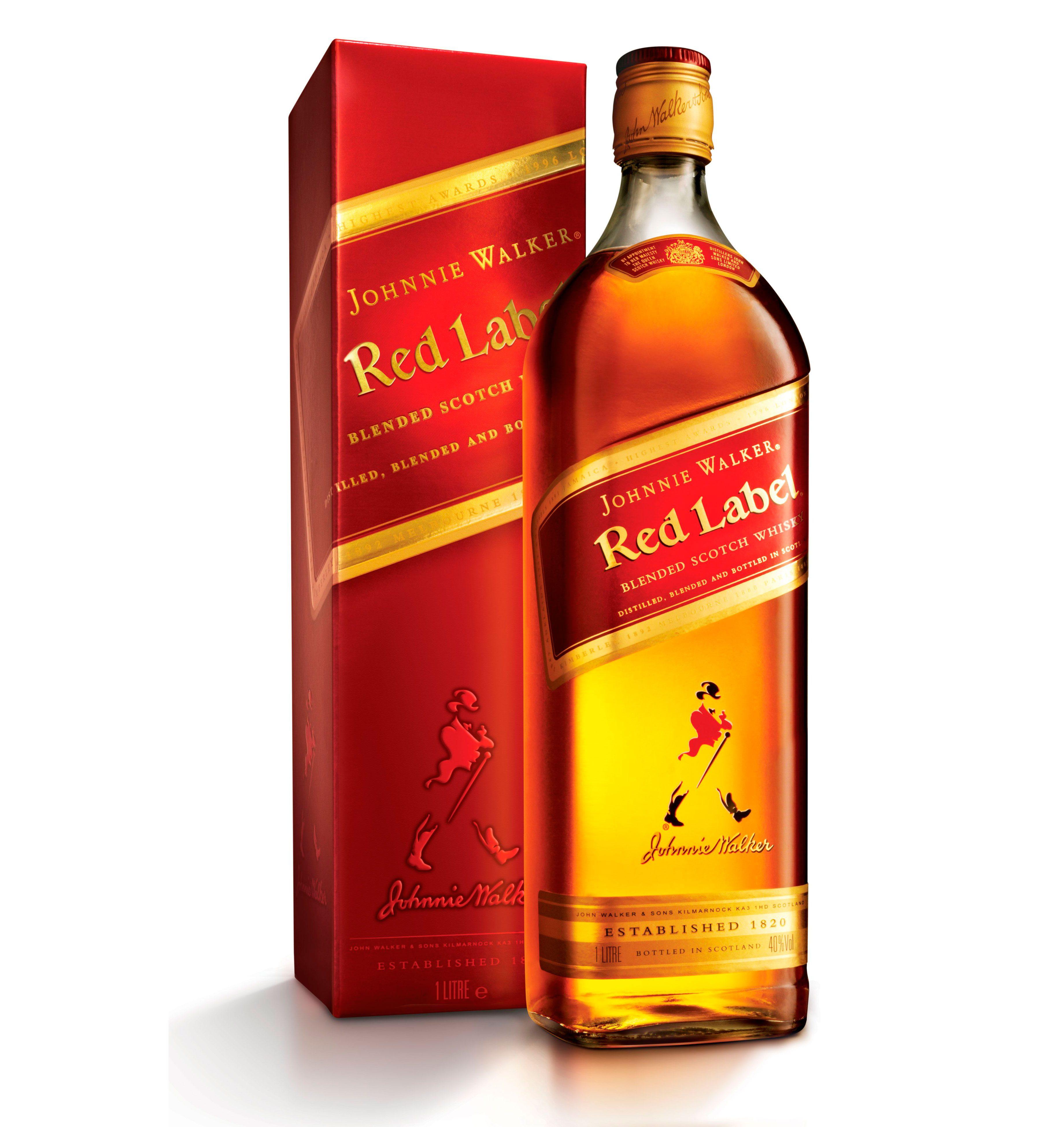 Johnnie Walker Etiqueta Roja (Caja de 6 piezas de 750ml)