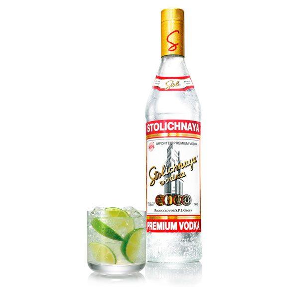 Vodka Stolichnaya (Caja de 12 piezas de 750ml)